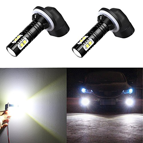 Alla Lighting 881 889 High Power 50W CREE Extremley Bright 6000K Xenon White Fog Lights Lamps Replacement 862 886 894 896 898 (Camaro Lights 1999 Fog)