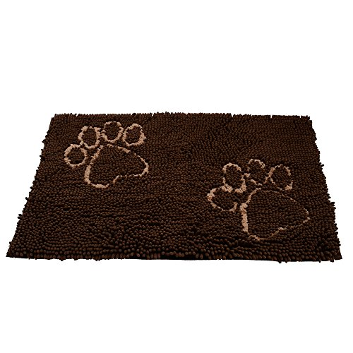Dog Doormat for Dirty Dogs 20-Inch by 31-Inch, Microfiber Absorbent Pet Door Mat, Brown - Dirty Dog Door Mat