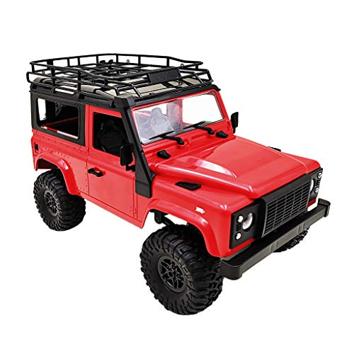 Fityle RC Model Car Toys - 1:12 Scale Remote Control RC Pickup Truck DIY 4WD Rock Crawler Climbing Truck Racing RC Car DIY for Kids and Adults - Red, ()