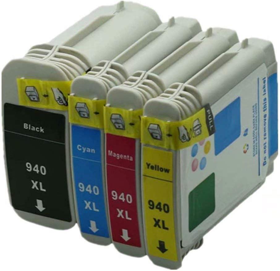 No-name Compatible Ink Cartridge Replacement for HP 940 XL 940XL HP940 HP940XL Officejet Pro 8000- A809a A811a A809n 8000 Inkjet Printer (1 Black 1 Cyan 1 Magenta 1 Yellow, 4 Pack)