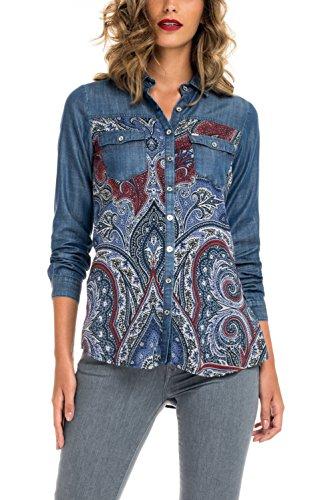 Salsa - Chemisier en jean avec graphique - Femme