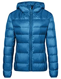 Wantdo Women's Hooded Ultra Light Weight Short Down Jacket