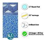 Smartline Tuscan 27-Foot Round Pool Liner | UniBead