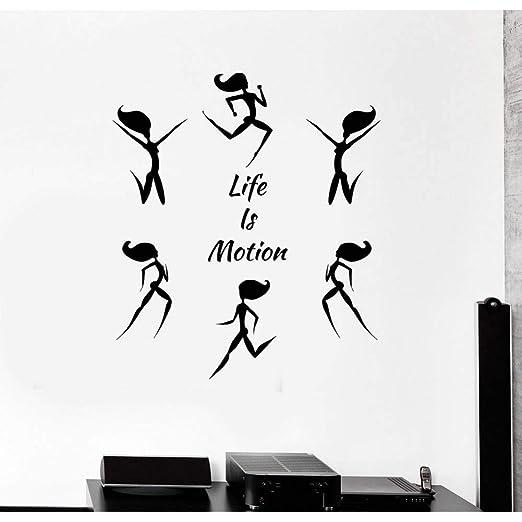 GUDOJK Tatuajes de Pared Cita de Ejercicios La Vida es Movimiento ...