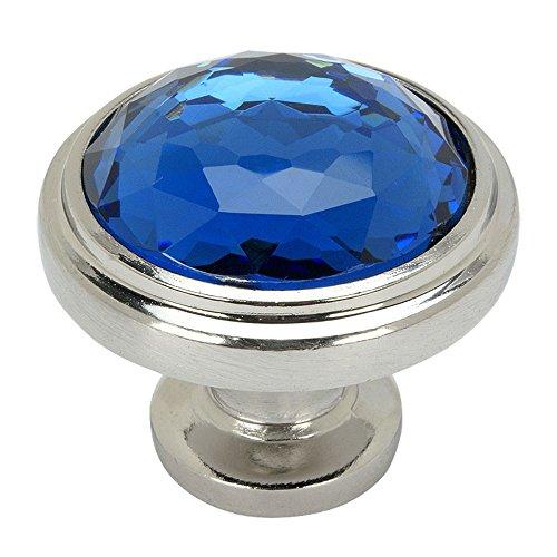 Blue Round Knob - 8