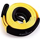 """Tow Strap Heavy Duty, Recovery strap - Soft Snatching - 30 000 lbs 3"""" x 20 ft - Towing Strap with Reflective Line, Reinforced Loops + Storage Bag - Off road Tow Rope - Greatest for Heavy Duty Vehicle"""
