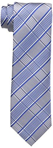 Sean John Men's Men'swear Grid Tie, Cobalt, One Size
