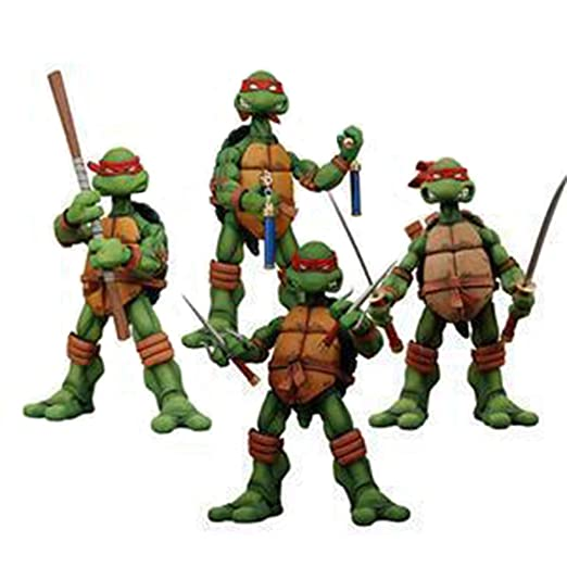 COOL MODEL Paquete De 4 Personajes: Leonardo Donatello ...