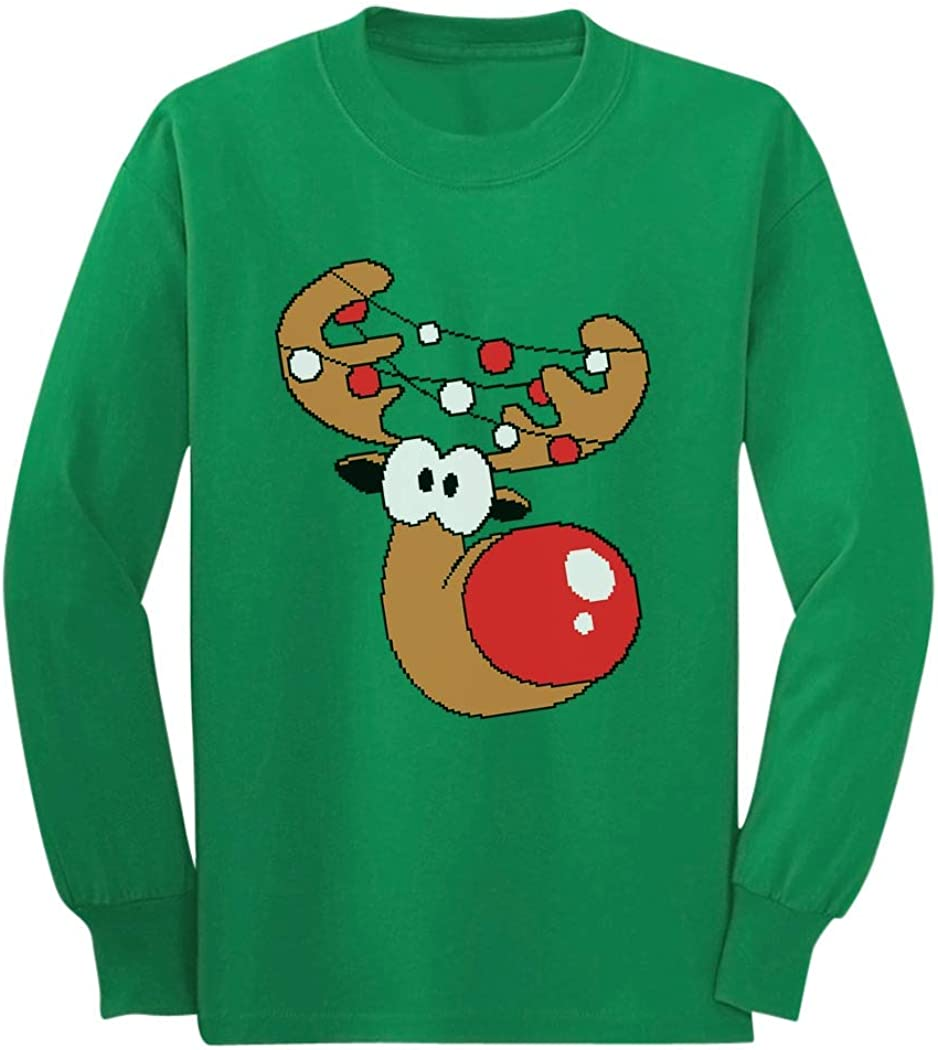 Reindeer Funny Christmas Youth Kids Long Sleeve T-Shirt