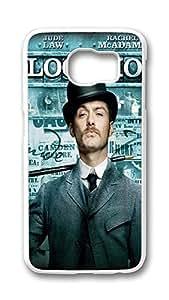 Samsung Galaxy S6 Case,Logo Series Customize Ultra Slim Sherlock Holmes Jude Law Doctor Watson 1 Hard Plastic PC White Case Bumper Cover for S6