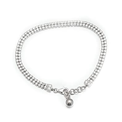 b8560f45769b BeyDoDo Modeschmuck S925 Silber Armband für Damen Doppelt Zirkonia ...