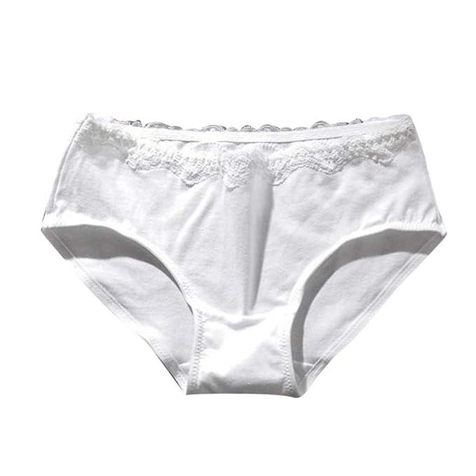 142fa98fe5 Luckycat Braga Tanga de Encaje para Mujer Bragas de Algodón para Mujer  Encaje Sexy Braguita Bikini