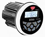 BOSS Audio MGR350B in-Dash, Marine Gauge, Bluetooth, Digital Media MP3 / WMA/USB / AM/FM Weather-Proof Marine Stereo, (No CD Player)