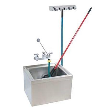 Stainless Steel Mop Sink Kit 6u0026quot; Depth ,16u0026quot; X 20u0026quot; X 6u0026quot