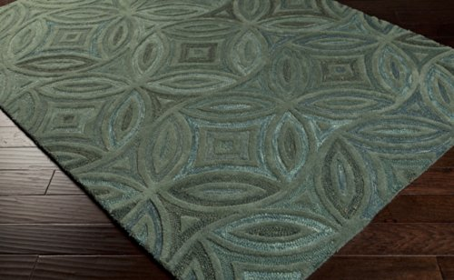 Surya Perspective PSV-33 Transitional Hand Tufted 100% Wool Laurel Green 2'6'' x 8' Runner by Surya