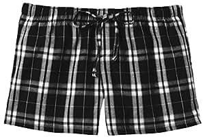 District Threads Juniors Flannel Plaid Pant, L, Black