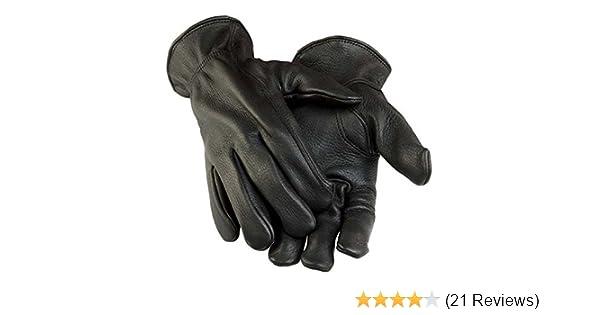 e032bada7895b Northstar Men's Black Deerskin Gunn Cut Gloves (Unlined) 011B at Amazon  Men's Clothing store: