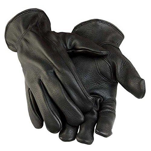 Northstar Men's Black Deerskin Gunn Cut Gloves (Unlined) 011B (L) (Black Deerskin Leather)