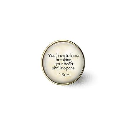 Amazon Rumi Healing Quote Brooch Inspirational Healing