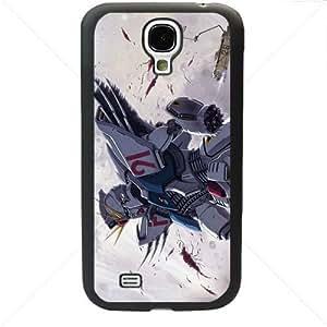 Gundam Manga Anime for Samsung Galaxy S4 SIV I9500 TPU Soft Black or White case (Black)