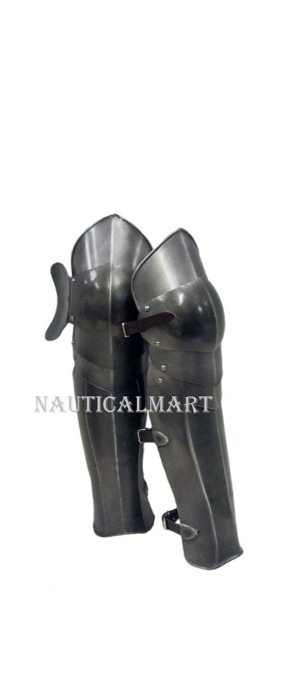 Larp Armour Articulated Greaves legs Medieval leg guards