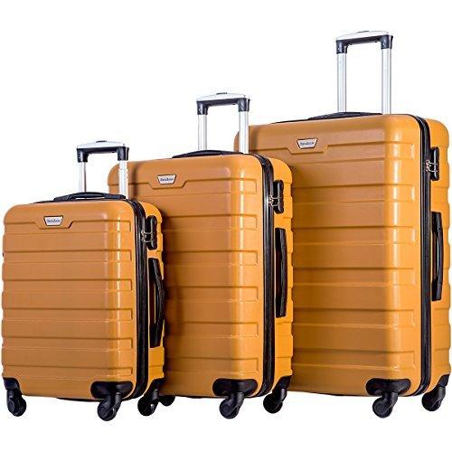 Merax Travelhouse Luggage 3 Piece Set Suitcase