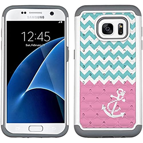 Fit Galaxy S7, One Tough Shield  Dual Layer Hybrid phone Case (Pearl White with Grey Silicone) for Samsung Galaxy Sales