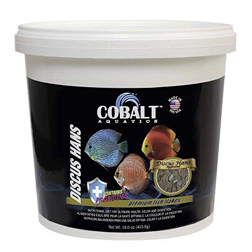 Cobalt Aquatics Discus Hans Fish Food Flakes with Probiotics