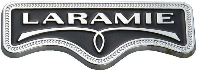 2 Pack LARAMIE Emblem Badge Sticker Tailgate Compatible For Ram 1500 2500 3500 Mopar Chrome//Black