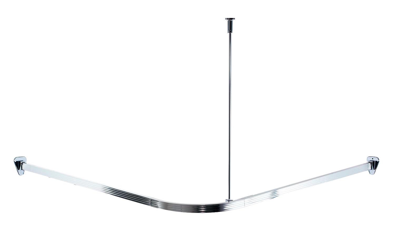 Ridder 52000-0 Barre de douche Aluminium brillant 90 x 90 cm