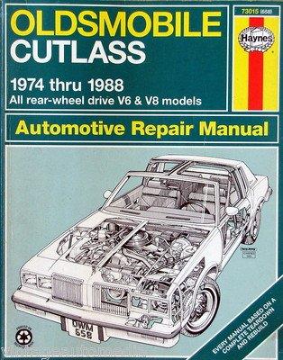 amazon com 1974 1988 haynes repair manual oldsmobile cutlass rh amazon com 1977 Oldsmobile 1974 Oldsmobile Cutlass