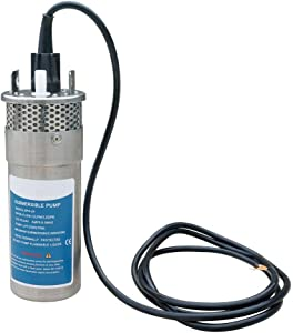 ECO-WORTHY 12V DC Stainless Solar Powered Submersible Water Well Pump 135'/35m Lift Stainless Water Pum