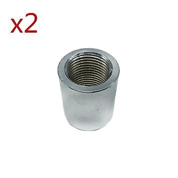 2pcs Tapón de espaciador articulaciones convertidor de extensión extensor del sensor de oxígeno M18 x 1