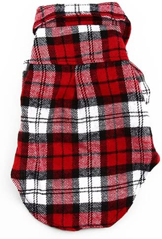 CricTeQleap Haustier-Kleidung Kleiner Hund Plaid Shirt Revers Mantel Katze Jacke Kleidung Kost/üm Top Bekleidung