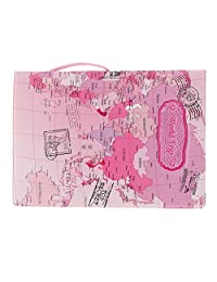 MagiDeal Pink World Trip Passport Card Protector PVC Leather Holder for US Passport