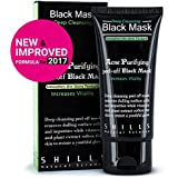 SHILLS New & Improved Formula With Activated Charcoal Deep Cleansing Purifying Peel-Off Black Face Mask,, Natural, Oil-Control, Blackhead Removing (50ml)