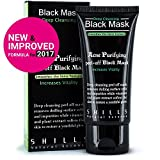 Deep Cleansing Black Mask Peel Off SHILLS New & Improved Formula With Activated Charcoal Deep Cleansing Purifying Peel-Off Black Face Mask,, Natural, Oil-Control, Blackhead Removing (50ml)