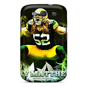 Durable Cell-phone Hard Cover For Samsung Galaxy S3 (PLU3098BqEn) Allow Personal Design Trendy Green Bay Packers Skin