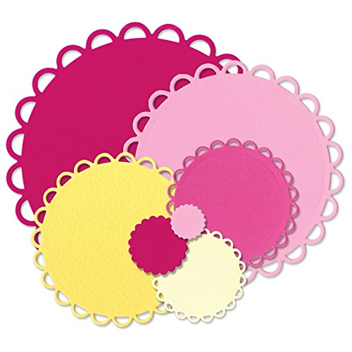 (Sizzix Scallop Circles Framelits Dies By Stephanie Barnard, 6-Inch by 13.75-Inch, 7-Pack)