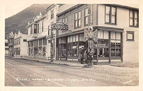 Skagway Alaska Kirmse's Curio Shop Totem Pole Real Photo Postcard AA857