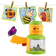 Bug Catcher and Viewer, Kictero Insect Magnifier Microscope Catching Kit, Kids Backyard Educational Nature Science Exploration Toy for Little Critters Fun