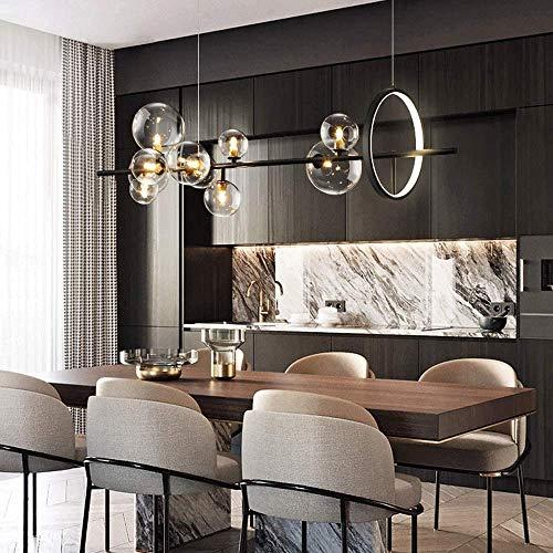 Nordic Black LED Kroonluchter Light Glass Bubble lampenkap Eetkamer Cloth Store Opknoping kroonluchter verlichting G9…