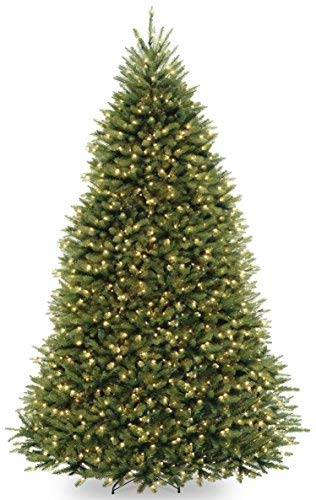 National Tree 9 Foot Dunhill Fir Tree with 900 Dual LED Lights and 9 Function Footswitch, Hinged (DUH-300D-90) from National Tree Company