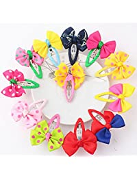 Lurrose 12pcs Bow hair clips for girls clips bowknot barrette clips hair accessories
