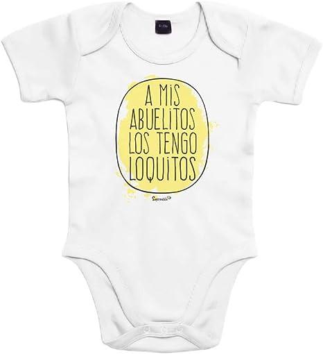 SUPERMOLON Body bebé algodón A mis abuelos los tengo loquitos 3 ...