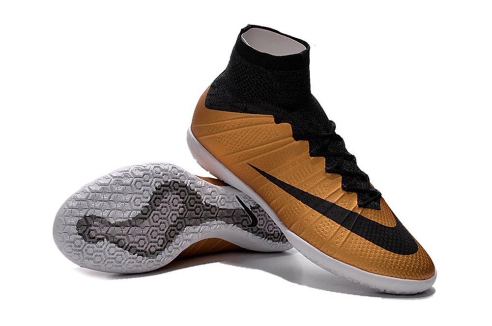Yurmery Schuhe Herren Fußball Soccer mercurialx Proximo Street Innen Stiefel, Braun