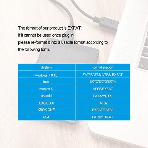 2.5'' 160GB Ultra Slim Portable External Hard Drive USB3.0 HDD Storage Compatible for PC, Desktop, Laptop(Black) by KESU (Image #4)