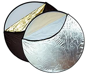 Opteka 43-Inch 5-in-1 Collapsible Disc Reflector, Translucent, White, Black, Silver, Gold, with Carrying Case
