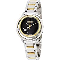 Citizen Eco-Drive L Sunrise Solitaire Two-Tone Womens Watch