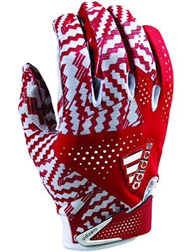adidas Adizero 5.0 Football Gloves Small White/Red